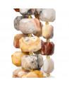 Orecchini Di Argento 925 Con Perle Di Fiume E Giada Burma Incisa Verde