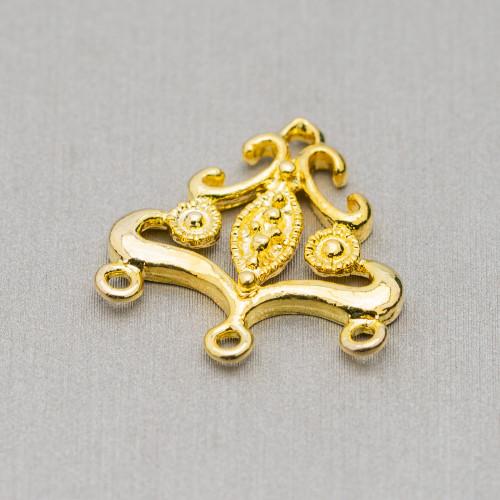Orecchini A Perno Di Argento 925 Con Perle Di Fiume Con Zirconi E Centrale Blu