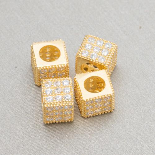 Orecchini A Monachella Di Argento 925 Con Perle Di Fiume Barocche A Goccia Dorata Bianca