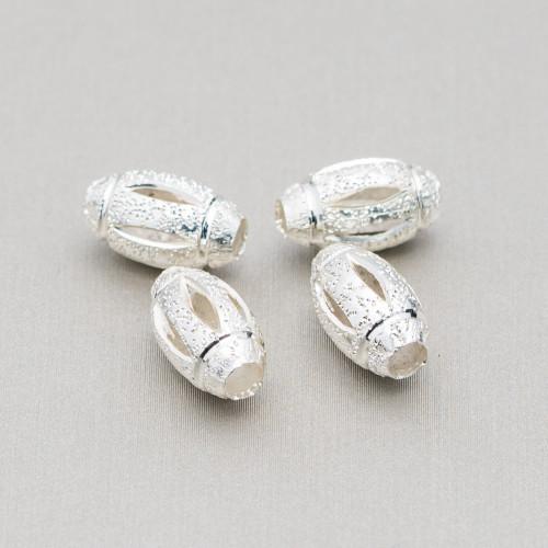 Orecchini A Perno Di Argento 925 Con Zirconi E Giada Burma