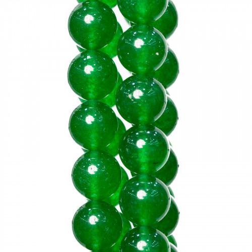 Giada Smeraldite Satinato (Matte) Tondo Liscio 06mm