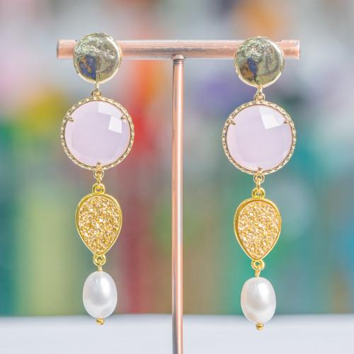 Perle Di Fiume Barocche 85-95gr - Nere 13-15x16-21mm