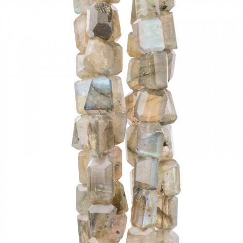 Orecchini A Monachella Di Argento 925 Con Pietre Dure E Perle Di Fiume Monachella Battuta E Apatite Chiaro