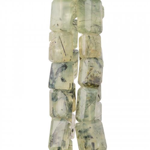 Orecchini A Monachella Di Argento 925 Con Pietre Dure E Perle Di Fiume Monachella Liscia E Apatite Chiaro