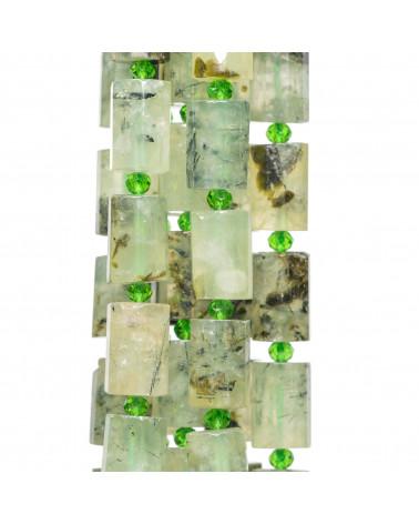 Orecchini A Monachella Di Argento 925 Con Sfere Sfaccettate Di Zirconi Naturali Champagne