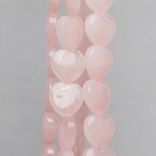 Orecchini A Perno Di Bronzo Con Perle Di Fiume E Pietre Dure Rosa Scuro