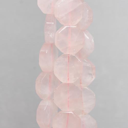 Agata Muschiata Chiaro Ovale Piatto Sfaccettato 13x18mm