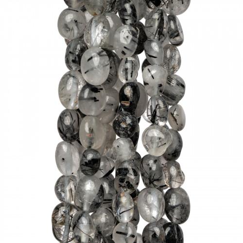 Orecchini A Monachella Di Argento 925 Con Perle Di Fiume A Goccia Oro Rosa