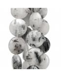 Orecchini A Perno Di Argento 925 Con Fiori Di Madreperla Bianca E Corallo Bamboo