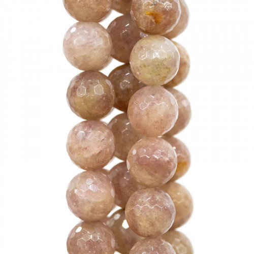 Orecchini A Perno Di Argento 925 Con Zirconi A Sfera Sfaccettata E Rondelle Zirconate Verde Peridot Chiaro