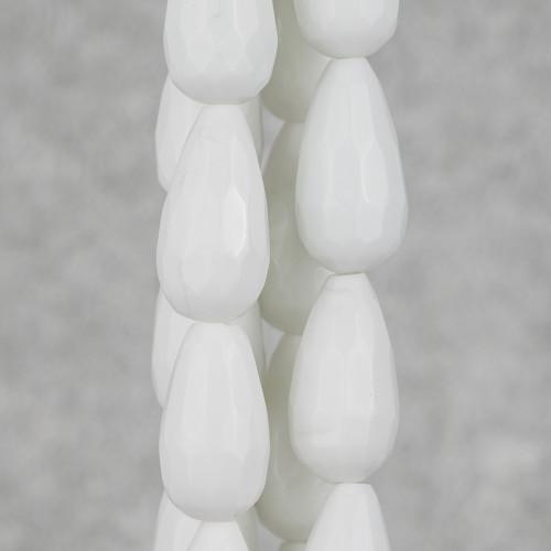 Componente Di Cristalli Intrecciati A Cerchietto 30mm 10pz Turchese