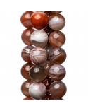 Collana Di Pietre Dure Con Perle Di Fiume E Corallo Bamboo Rosso Forme 133cm