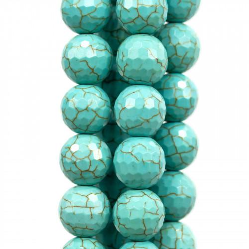 Ceramica Lucida Tondo Liscio 16mm Blu