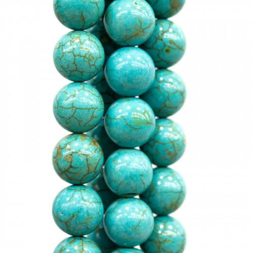 Ceramica Lucida Tondo Liscio 18mm Blu