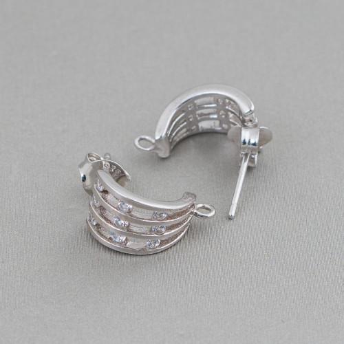 Orecchini Di Argento 925 A Perno Placcato Oro Con Catena Perle Di Fiume Riso E Avventurina Cilindro
