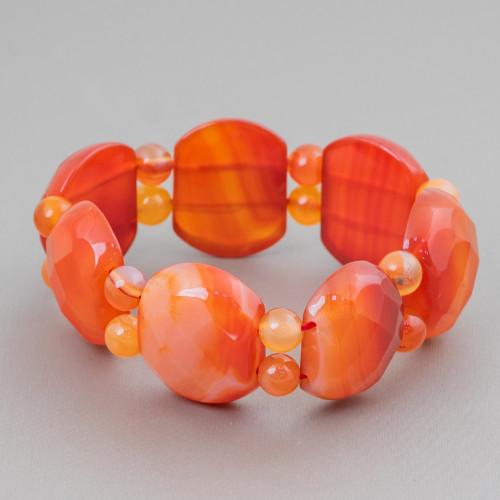 Perle Di Fiume Barocche Bordate Oro 10pz