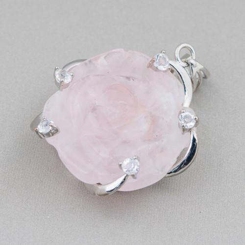 Bracciale Di Perle Di Fiume 10mm Con Componente Strass E Cristalli