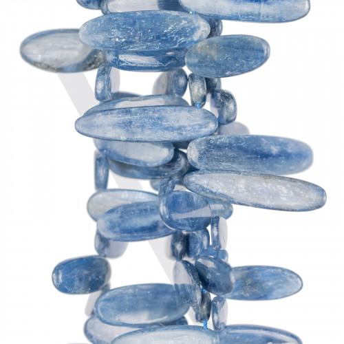 Agata Blu Intenso Striata Tondo Liscio 10mm