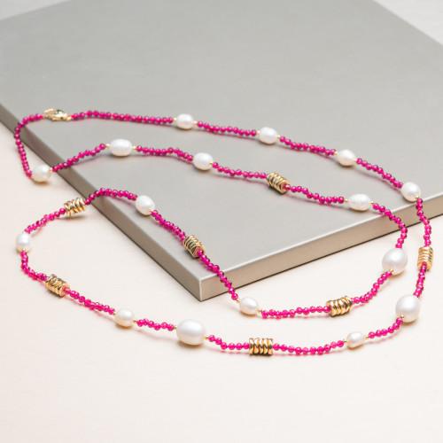 Bracciali Di Argento 925 Con Palline SuperLeggere da 6mm Oro Rosa Con Passivazione 4pz