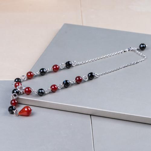 Orecchini A Perno Di Argento 925 Con Zirconi Con Perle Di Maiorca Gocce Piatte Dorato