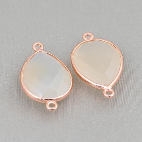 Catena Di Argento 925 A Metraggio Rolo' Diamantata 2,3mm Oro Rosa 1mt