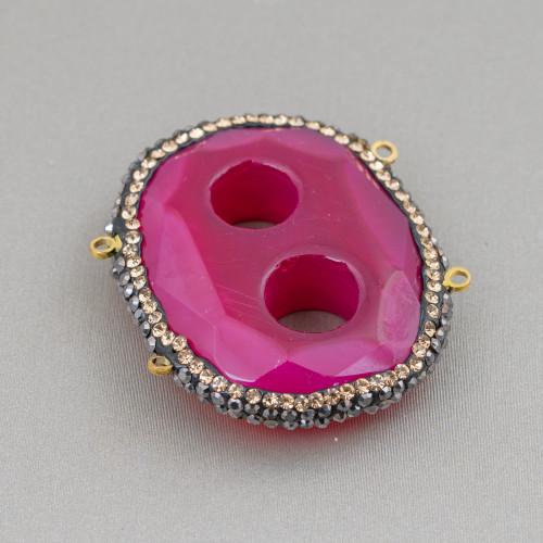 Orecchini A Perno Di Bronzo Con Pietre Dure Perle E Cerchietti Di Perle Di Maiorca