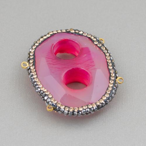 Orecchini A Perno Di Bronzo Con Pietre Dure Perle E Cerchietti Di Perle Di Maiorca Grigio