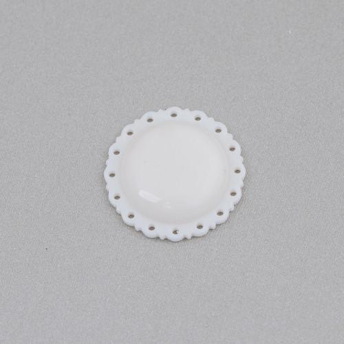 Connettore Componente Di Ottone A Ventaglio Con Occhio Di Gatto Incastonato E Zirconi 23x36mm 4pz Dorato Verde