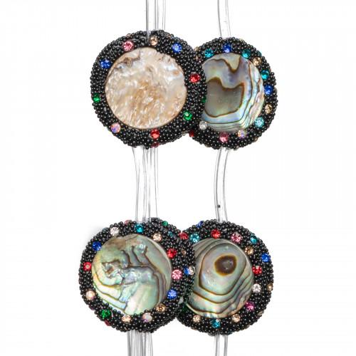 Perle di Fiume Tondo 7,5-8,0mm A Grigio Scuro