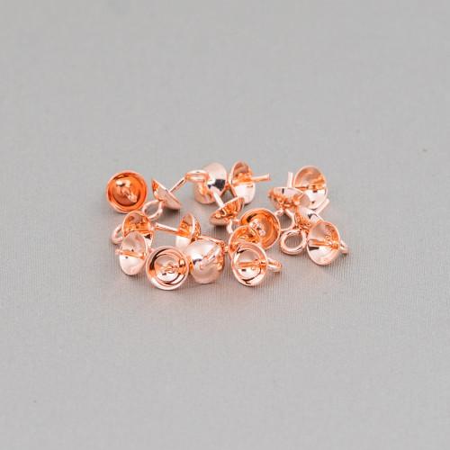 Perline a Filo Di Marcasite Strass Coppette Cupole 22x17mm 10pz Nero + Bianco