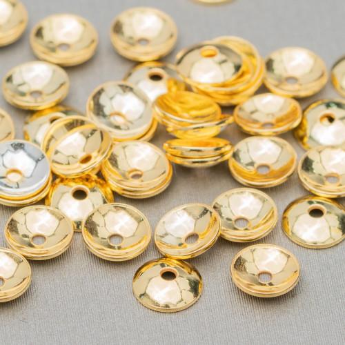 Perle di Maiorca Grigio Argentato Tondo Liscio 16mm