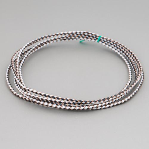 Orecchini A Perno Di Argento 925 Con Zirconi E Topazio Azzurro 25681
