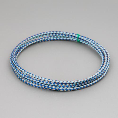 Orecchini A Perno Di Argento 925 Con Zirconi E Topazio Azzurro 26177