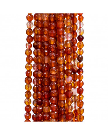 Perle Di Maiorca Rosso Corallo Sardegna Gocce Piatto Barocca 20x30mm