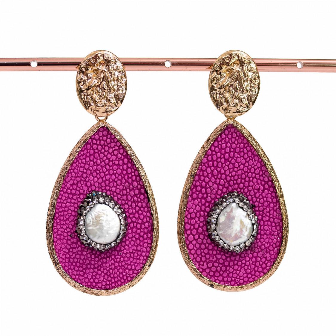 Bracciale Pasta Di Corallo Rosa E Perle Di Maiorca Tondo 12mm