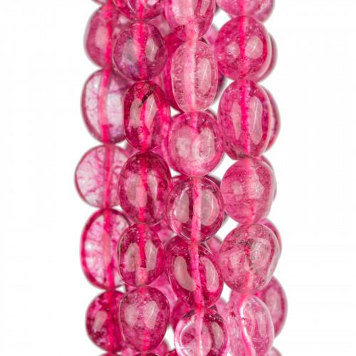 Componente Di Ottone a Cerchietto Con Cabochon Di Occhi Di Gatto Incastonati 25x25mm 4pz Oro Rosa Blu Chiaro