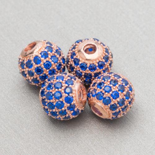 Perline a Filo Di Marcasite Strass Con Perle Di Fiume Piatte Barocche 15x23mm 8pz Rosa