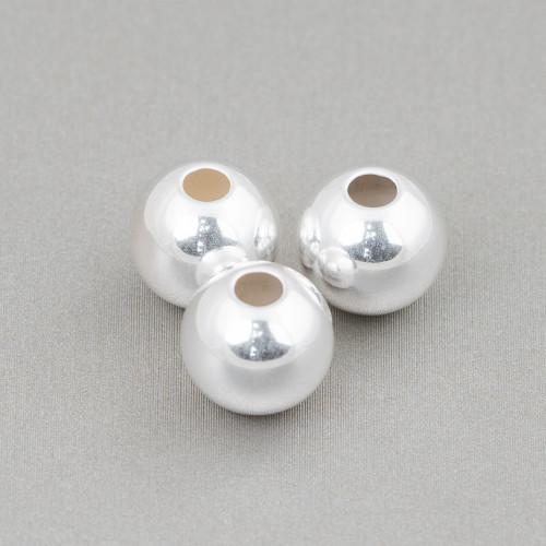 Bracciale Di Argento 925 Con Perle Di Fiume Riso Peacock E Perle Di Maiorca Caramella Bianco 18cm +3cm