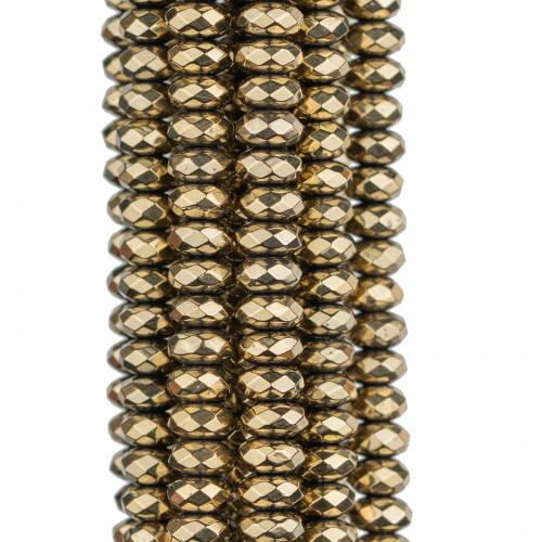 Base Per Orecchini Di Argento 925 Con Zirconi Tondo 13,5mm 4 Paia Dorato