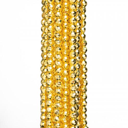 Basi Per Orecchini Di Bronzo A Perno 18mm Con Corallo Bamboo 5 Paia
