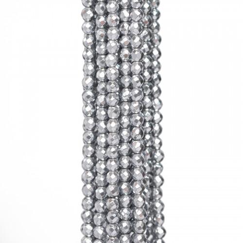 Basi Per Orecchini Di Bronzo A Perno 18mm Con Perle Di Fiume Grigie 5 Paia