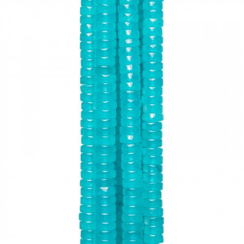 Giada Rubellite Gocce Piatte Lisce 15x20mm