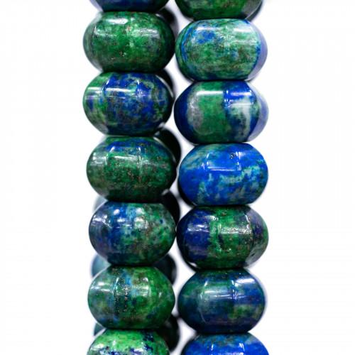 Perline a Filo Di Marcasite Strass Ovale Piatto 18x23mm 8pz Dorato