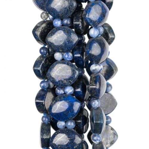 Perline a Filo Di Marcasite Strass Coppette Cupole 13-14mm 11pz Bianco