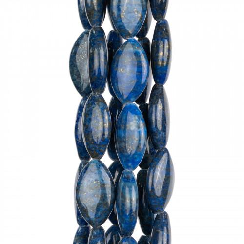 Perline a Filo Di Marcasite Strass Coppette Cupole 15-16mm 11pz Dorato
