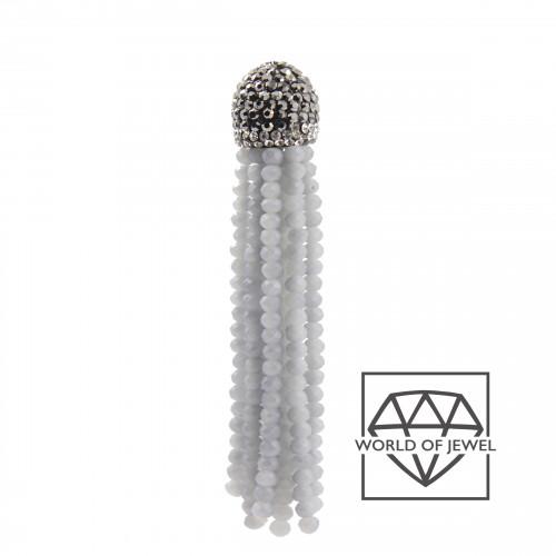 Orecchini A Monachella Di Argento 925 Con Zirconi E Perle Di Fiume Barocche Naturale MOD2 Dorato