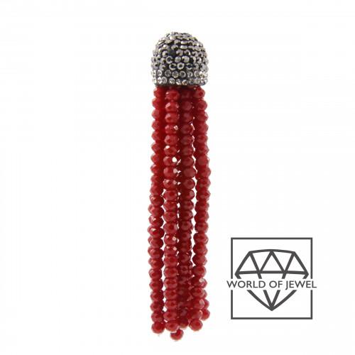 Orecchini Di Bronzo A Perno Con Marcasite Strass, Perle Di Fiume E Pietre Dure 40x60mm