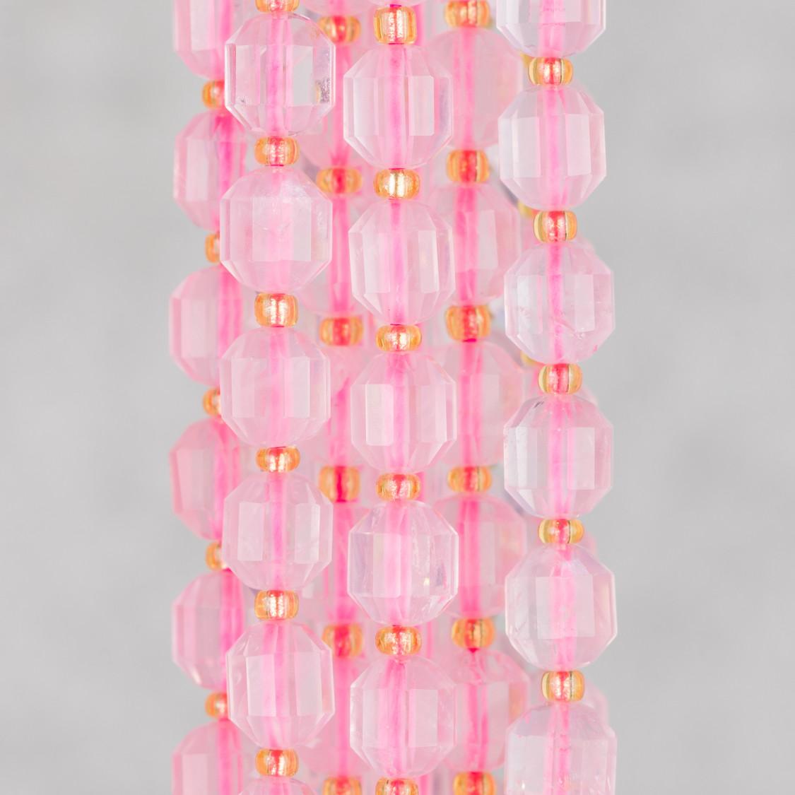 Cabochon Di Cristalli Sfaccettati E Ottone 1 Anellino Rombo 17x26mm 10pz Celeste Opaco E Dorato