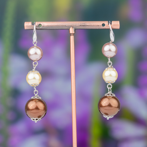 Perle Di Fiume Barocche Economiche 10-15mm Giallo Oro