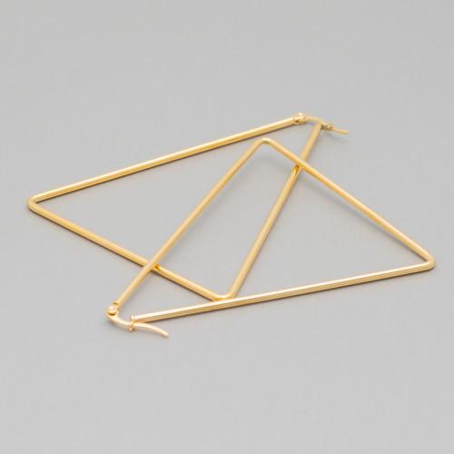 Base Per Orecchini Di Argento 925 Ami A Goccia 3,5x16,5mm Argentato 10 Paia